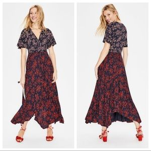 Boden Heather Hem Detail Midi Dress Size 6